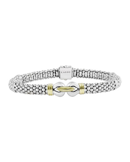 Derby Silver & Gold Bracelet, 6mm