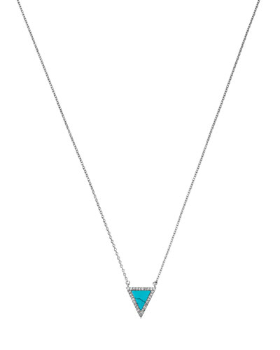 Silvertone Triangle Pendant Necklace