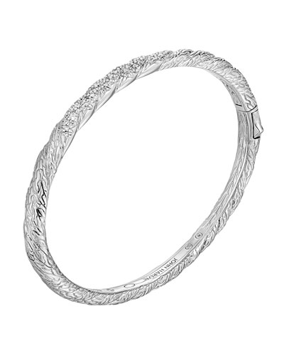 Classic Chain Medium Diamond Bangle, Size M