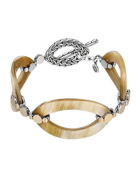 John Hardy Dot Buffalo Horn Link Bracelet