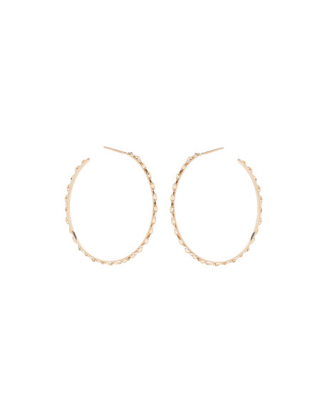 14k Small Glam Sunrise Hoop Earrings