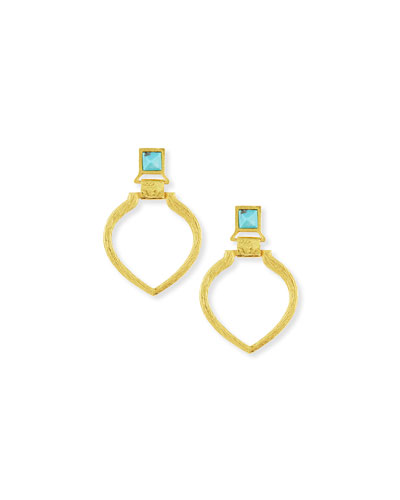 24k Gold-Plated Turquoise Tier Earrings