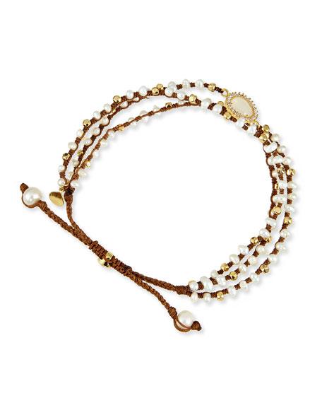3-Strand Mother-of-Pearl Beaded Bracelet