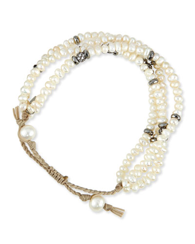 Mother-of-Pearl Multi-Strand Bracelet