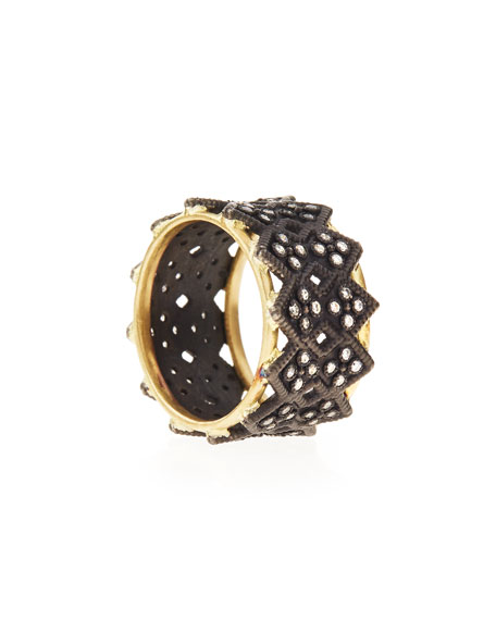 Double Crivelli Wide Band Ring