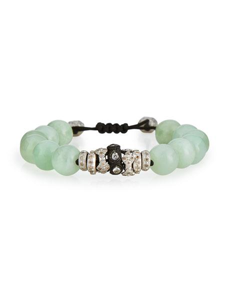 Armenta Green Moonstone & Diamond Beaded Bracelet