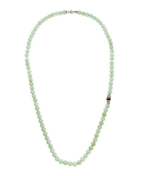 Armenta Green Moonstone & Diamond Beaded Necklace, 36