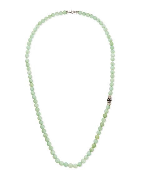 Armenta Green Moonstone & Diamond Beaded Necklace, 36