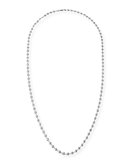Ippolita Glamazon Silver Flat Hammered Bead Necklace, 40