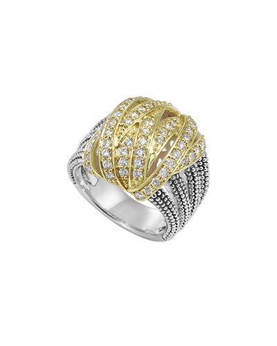 Embrace Large Diamond Wrap Ring