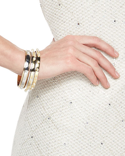 Two-Tone Bangle with Large Pearls