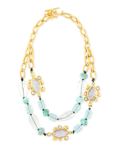 Crystal Flippable-Station Bib Necklace
