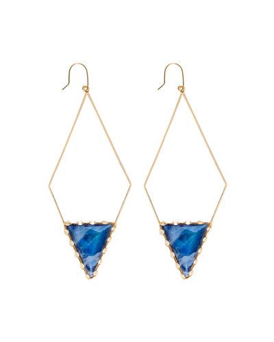 Azzurra 14k Diamond-Shape Hoop Earrings