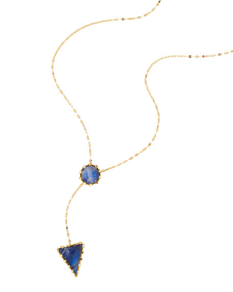 Lana Azzurra 14k Gold Lariat Necklace