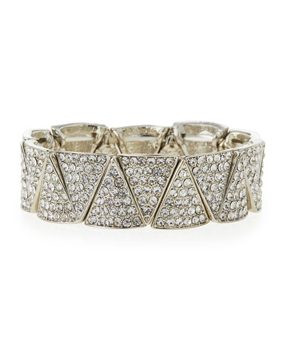 Pave Crystal Stretch Bracelet