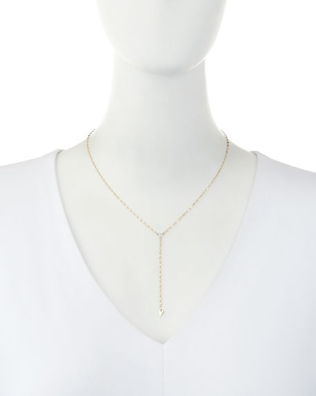 Vista 14k Gold Lariat Necklace
