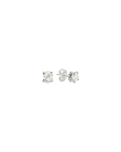 Prism White Topaz Stud Earrings