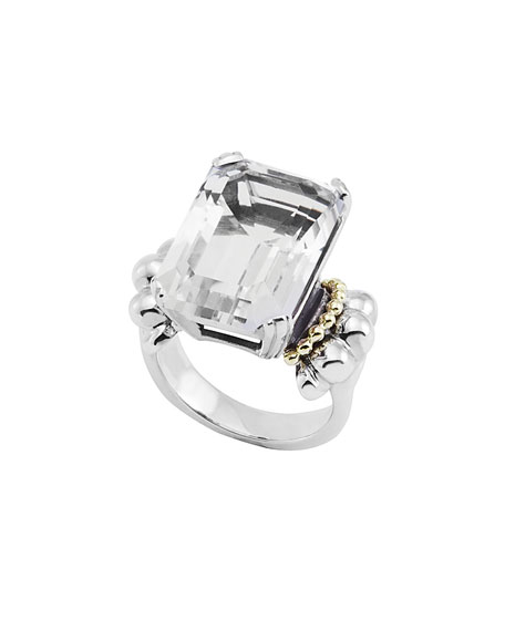 Lagos Glacier White Topaz Statement Ring