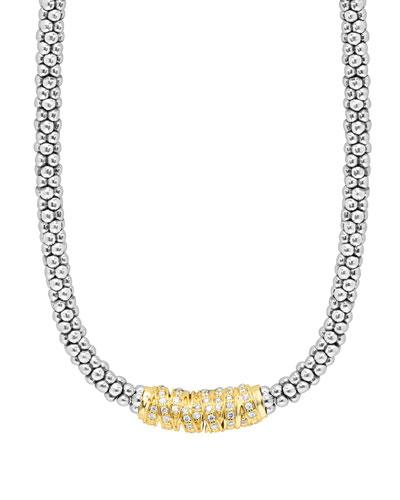 Embrace Diamond Station Necklace, 16