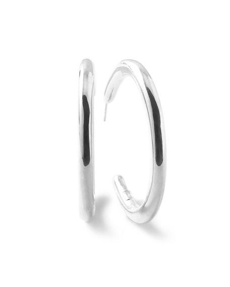 Glamazon Silver #3 Hoop Earrings