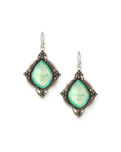 New World Chrysoprase Kite Earrings