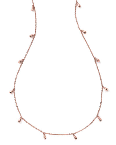 "Glamazon Rose Petal Necklace, 50""L"