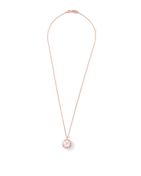 Rock Candy Rose Small Quartz Flower Necklace