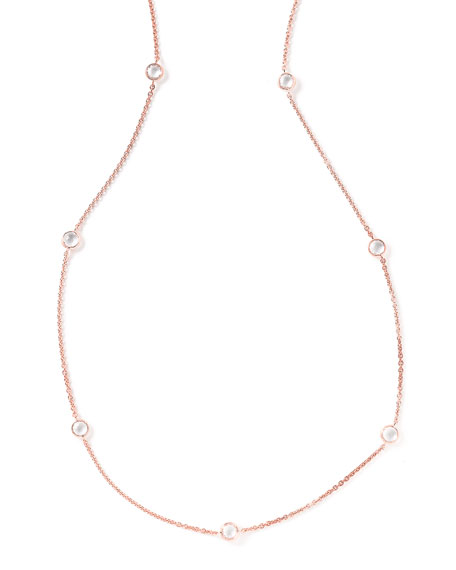 Rock Candy Rose Long Station Necklace