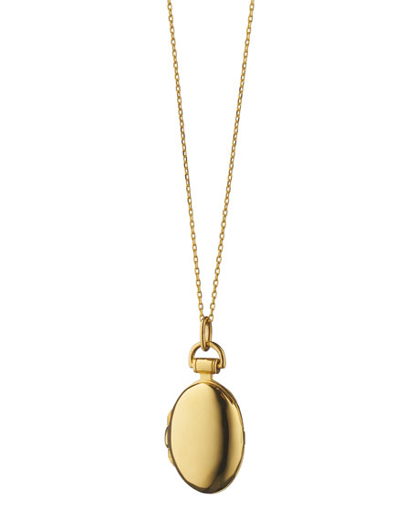 Monica Rich Kosann Anna 18k Gold Petite Locket