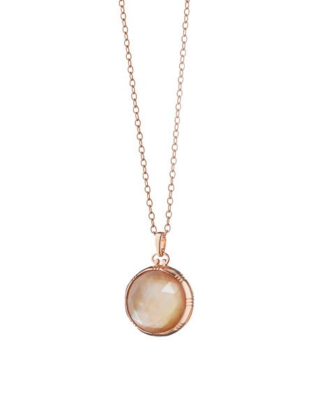 Monica Rich Kosann Rose Gold Cognac Mother-of-Pearl Petite