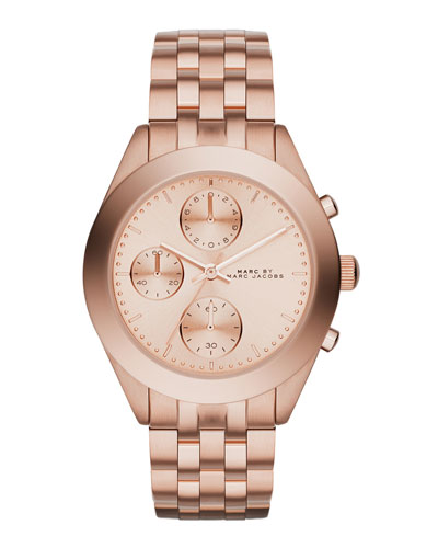 36mm Peeker Rose Golden Chronograph Watch