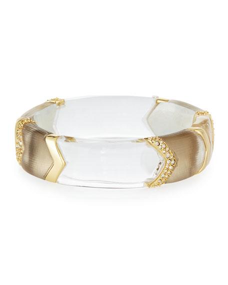 Crystal Chevron Lucite Hinge Bracelet