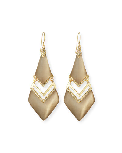 Chevron Lucite Drop Earrings