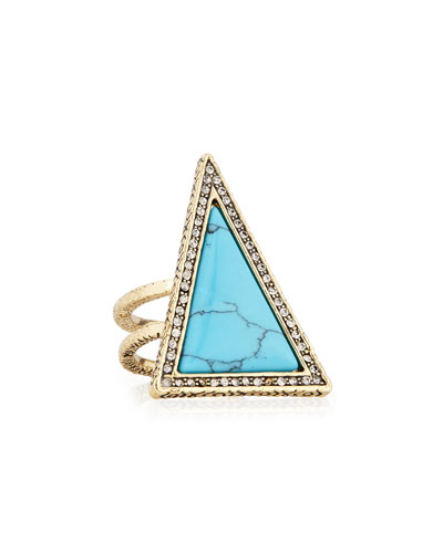 Triangle Theorem Cocktail Ring