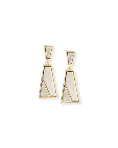 Trapezio Two-Tone Drop Earrings