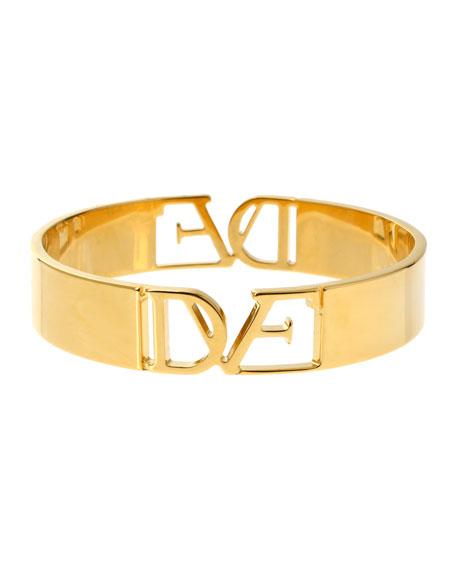 DVF Thin Logo Bangle Bracelet