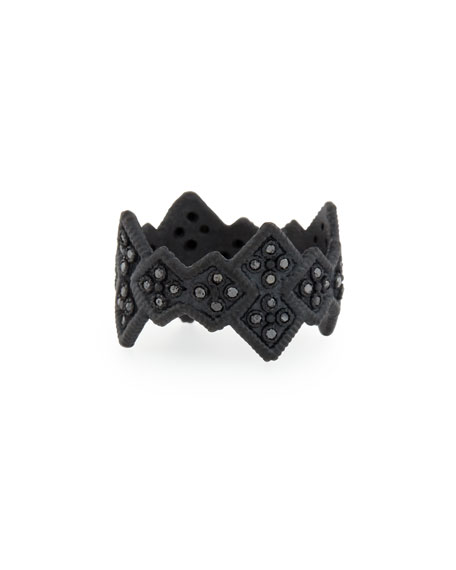 Armenta Midnight Cravelli Black Diamond Wide Ring