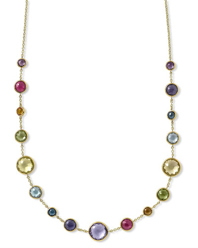 18k Gold Lollitini Multi-Stone Short Necklace