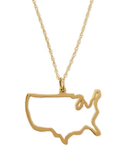 14-Karat Gold USA Necklace
