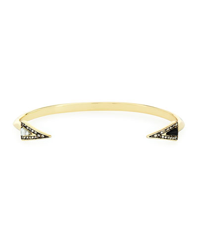 Acute Triangle-End Cuff Bracelet