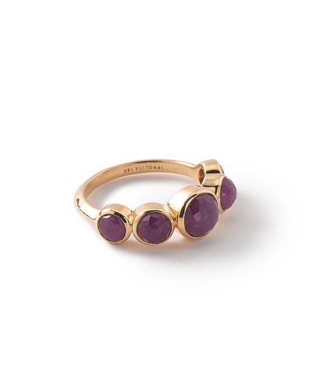 Ippolita 18k Lollipop 5-Stone Bezel Ring, Ruby