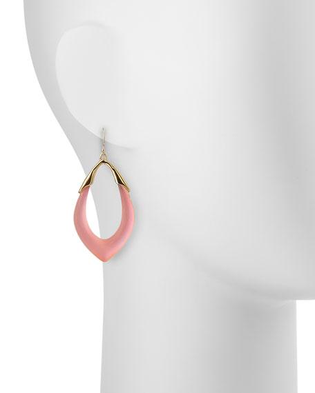 Pink Lucite Drop Earrings