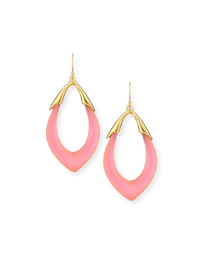 Pink Lucite Drop Earrings