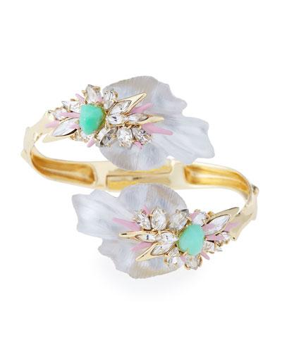 Floral Punk Orchid Bypass Hinge Bracelet
