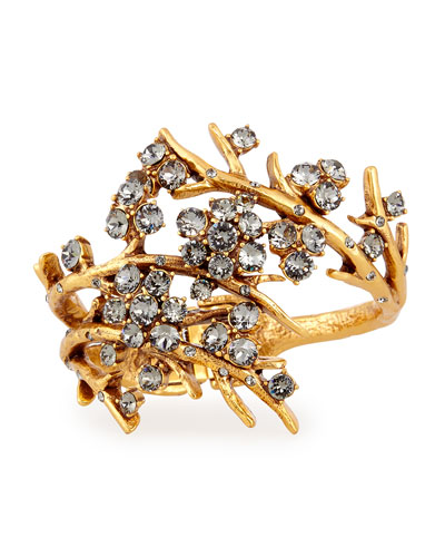 Gold-Plated Crystal Branch Bracelet