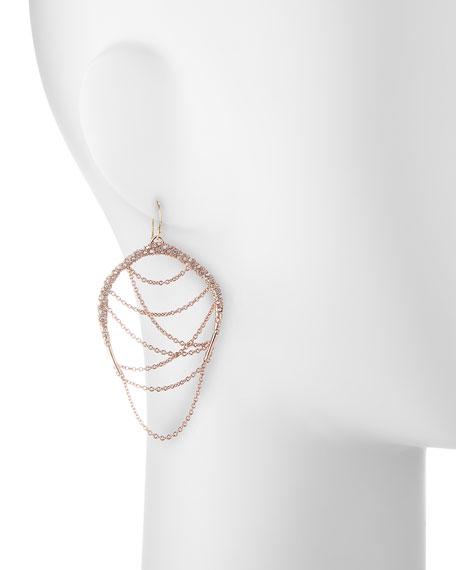 Rose Golden Draping Chain Earrings