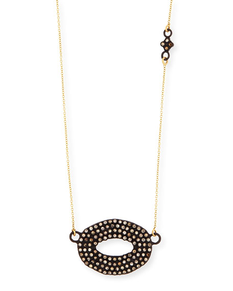 Armenta Open Center Oval Pendant Necklace