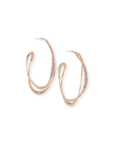 Miss Havisham Rose Golden Orbiting Hoop Earrings