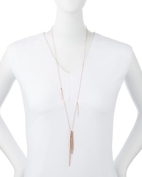 Rose Golden Long Spear Necklace