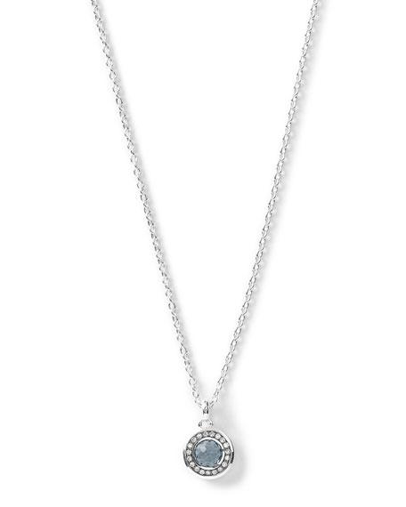 Silver Mini Lollipop Diamond Pendant Necklace
